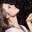 Girl in rain - Stock Photo