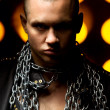 Guy with chains - Stockfoto