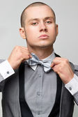 With bow tie — Stock Photo