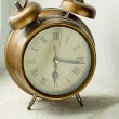 Stock Photo: Old metal clock