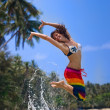 Jumping girl — Stock Photo #8532405