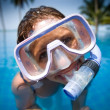 Woman in a swim mask - Foto Stock