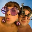 Funny couple - Stock Photo