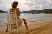 Woman by the sea — Stock Photo