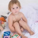 Little naked girl — Stock Photo