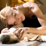Relax of ballerina — Stock Photo