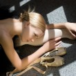 Relax of ballerina — Stock Photo