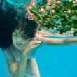 Girl in water — Stockfoto