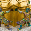 Demons of the Grand Palace in Bangkok - 图库照片