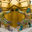 Demons of the Grand Palace in Bangkok - Stock Photo