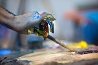 Artists painting pallette