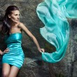 Stock Photo: Girl in blue dress