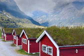 Norwegian houses in the mountains — 图库照片