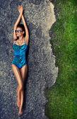 泳衣的女孩 — 图库照片