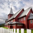 Red wooden house — Stock Photo #8680727
