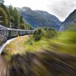 Train in motion — Stockfoto