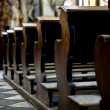 Stock Photo: Benches in cathedral