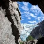Glacier in mountains — Stock Photo