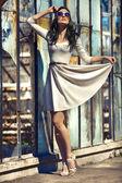 Girl in dress — Stock Photo