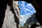 Glacier in mountains — Stockfoto