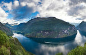 Beautiful Norwegian fjord — Stock Photo