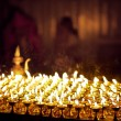 Candles in church - 图库照片