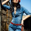 Girl in  jumpsuit - Foto de Stock