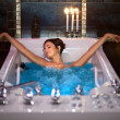 Girl in Jacuzzi — Stock Photo
