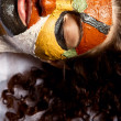 Stock Photo: Colorful face mask