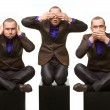 Stock Photo: No evil (male version)