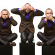 Royalty-Free Stock Photo: No evil (male version)