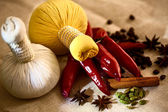 Spices and chilies — Stock Photo
