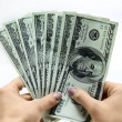 Dollars in hand — Stock Photo #9258095
