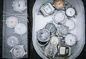 Pocket watches in a bunch — Stock Photo