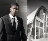 Mladý černý podnikatel — Stock fotografie