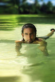 Man in water — Stock Photo
