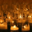 Candles in church - Foto Stock