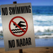 No swimming sign — Stock Photo #8449398