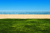View of beach and ocean — Stock Photo