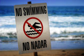 No swimming sign — Stock Photo