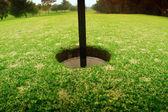 Buco nel campo da golf — Foto Stock