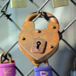 Heart padlock — Stock Photo #8450048