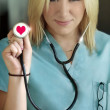 Female nurse in love — Stock Photo #8450839