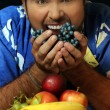 Man with fruit — Stock Photo