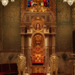 Throne in Cathedral — Stock Photo