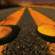 Yellow lines on Road — Stock Photo
