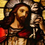 Gesù con agnello — Foto Stock