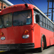 Big Red Bus - Stockfoto