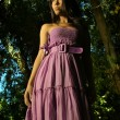 Model in Purple dress — Stock Photo