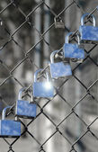 Locks in a row — Stock Photo